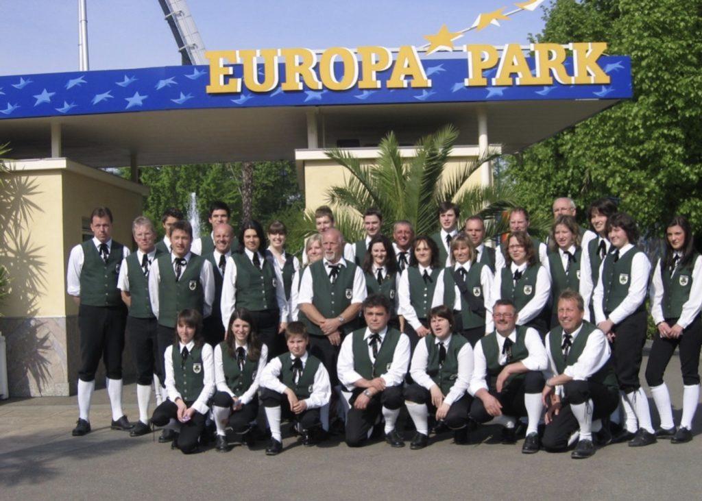 Gruppenfoto Ausflug Europapark